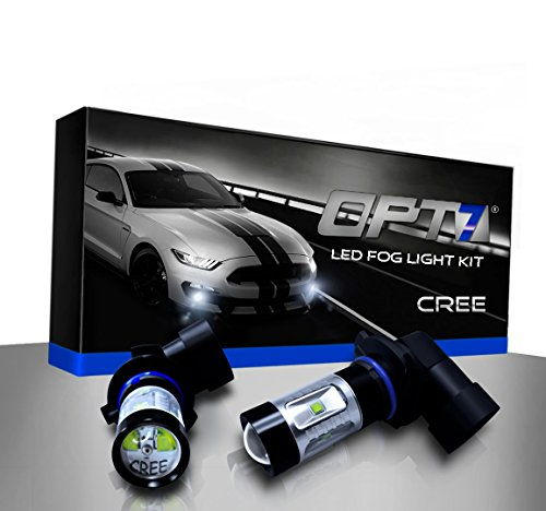 (OPT7 9006 CREE XLamp LED DRL Fog Light Bulbs - 10000K Deep Blue @ 700 Lm per Bulb - All Bulb Sizes and Colors - 1 Year Warranty (Pack of 2))