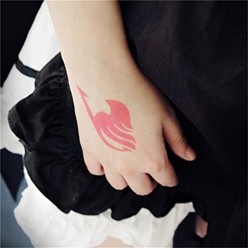 Gumstyle Fairy Tail 5 Sheets Waterproof Temporary Tattoos Costume Cosplay Body Stickers