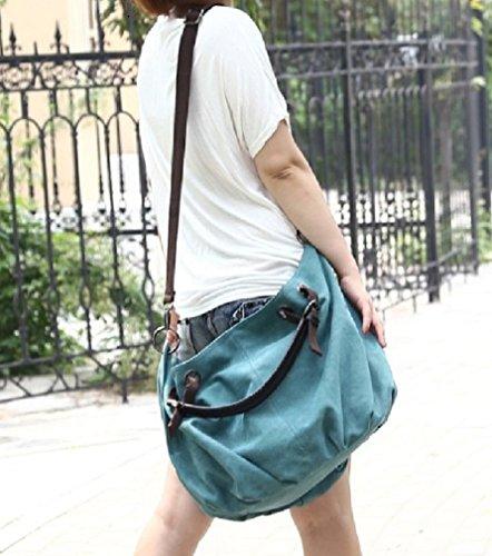 Purse Hobo Canvas with Hobo Handbag Blue Bag Codyna Carabiner for Large Women Crossbody 8vqqR