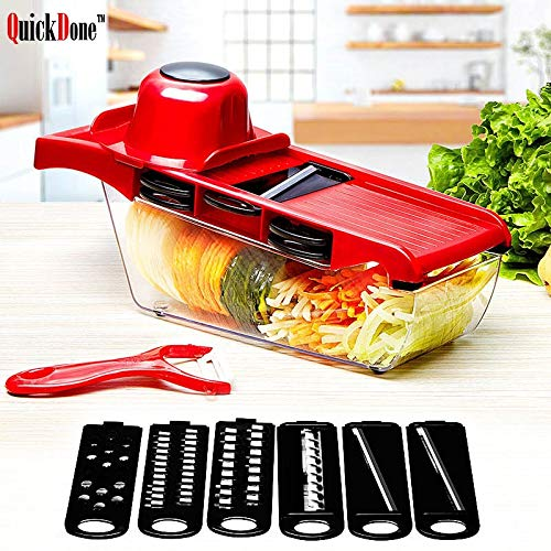 Creative Mandoline Slicer Vegetable Cutter - with Stainless Steel Blade - Manual Potato Peeler Carrot Grater Dicer by Gano Zen (Image #1)