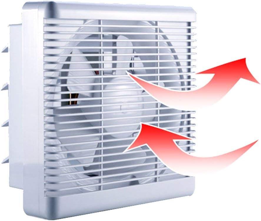 300m³/h 180m³/h Extractor de Baño Ventiladores de Baño Ventilación Reversible de 2 Vías con Persiana Interruptor de Cable Gran Flujo de Aire para Pared Ventana Cocina Garaje Tienda Inodoro 6