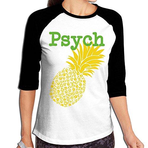 WWOJWBU Psych Pineapple Women's Casual Half Sleeve Graphic - India Sunglasses Online Round