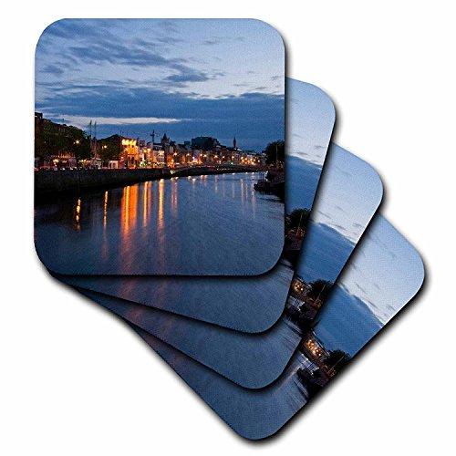 3dRose cst_82000_3 DubLin, Ireland. Evening Along The River LIffey EU15 MWR0036 Micah Wright Ceramic Tile Coasters, Set of 4 (Ceramic Tiles Dublin)
