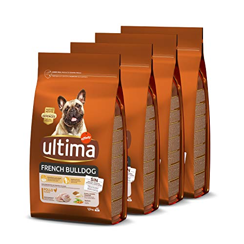 ultima Pienso para Perros French Bulldog – Pack de 4 x 1.5 kg, Total: 6 kg