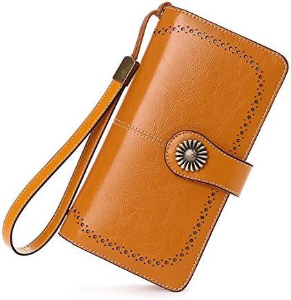여성용 장 지갑 대용량 지갑 라운드 패스너 고급 지갑 가죽 유행 인기 정품 / Ladies Long Wallet Large Capacity Coin Purse Round Fastener Luxury Wallet Genuine Leather Fashionable Popular Regular