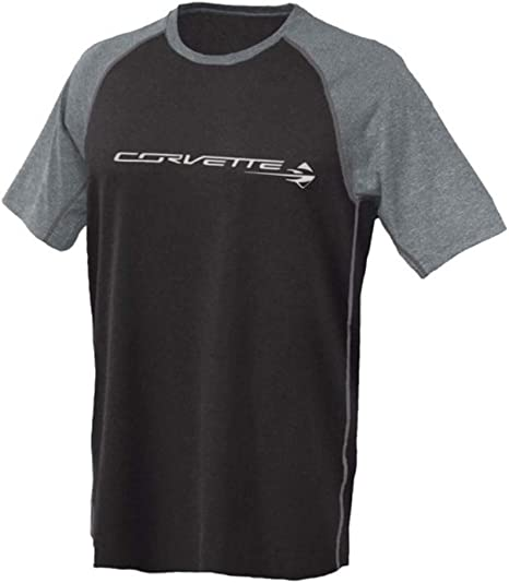 Heather Grey C7 Corvette Stingray Chest Logo T-shirt