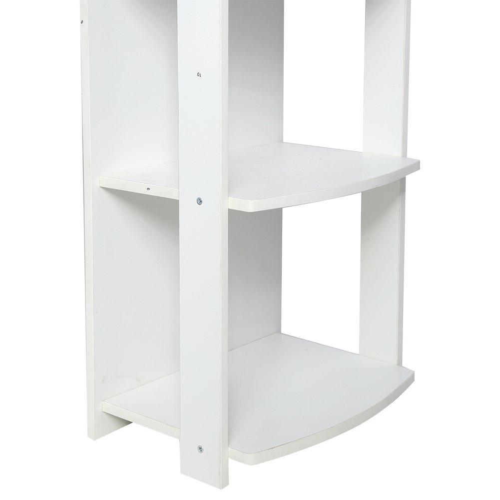 L-Form Computertisch Winkelschreibtisch B/ürotisch mit dem Regal aus Spanplatte Schwarz Zerone Eckschreibtisch