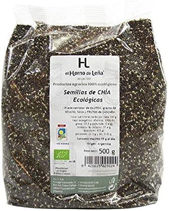 Horno de Leña Semillas De Chia Eco 500 g: Amazon.es: Alimentación y bebidas