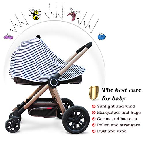 Baby Nursing Cover & Nursing Poncho - Multi Use Cover for Baby Car Seat Canopy, Shopping Cart Cover, Stroller Cover, 360� Full Privacy Breastfeeding Protection,Baby Shower Gifts for Boy&Girl By LUCINE