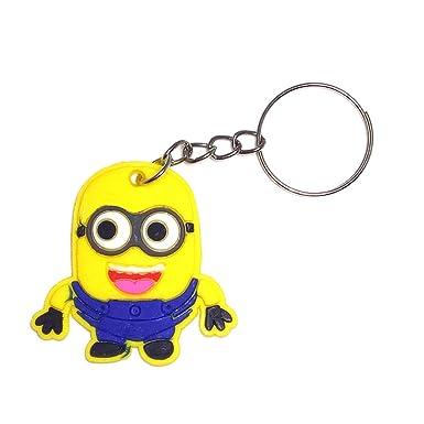 Amazon.com: Keychain for men - Anime Silicone Bag Charm Key ...