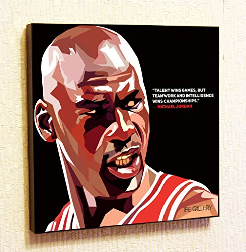 Michael Jordan NBA Backetball Motivational Quotes Wall Decals Pop Art Gifts Portrait Framed Famous Paintings on Acrylic Canvas Poster Prints Artwork (10x10