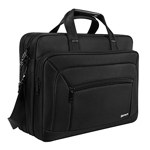 Kopack Laptop Briefcase Large Capacity 15.6 Inch Laptop Bag Water resistant Scratch-resistant Nylon Multi-Functional Shoulder Messenger Bag Black