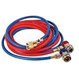 R134a Red and Blue Hose Set with Manual Couplers-2pack