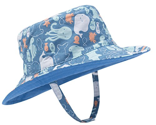1a3ead6e893 Eriso Baby Toddler Plaid Bucket Reversible Sun Protection Animal Hat  ((18.8