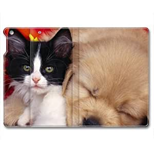 Lovely Dog Animal Custom Leather Cover for iPad 5 By Cases & Mousepads