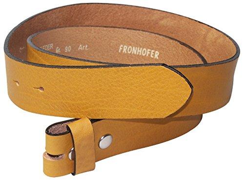 Fronhofer Ceinture modulable   Ceinture écologique sans boucle   Ceinture à  bouton-pression   cuir naturel véritable   aussi grandes tailles, ... 444c2afb50d