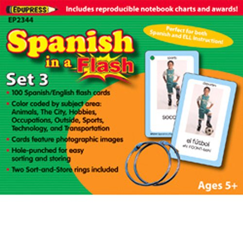 Spanish in a Flash Set 3 Flash Cards -
