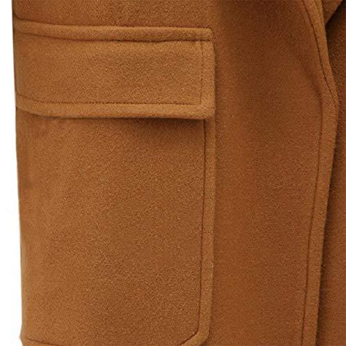 Couleur Coton Unie Capuche Veste Manteau Coupe Femme Peut Kaki En Amuster vent À L'arrière De Être Et L'avant Portée x1fA0qgW