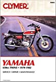 M403 1970-1982 Yamaha XS1 XS2 TX650 XS650 Clymer Motorcycle Repair Manual