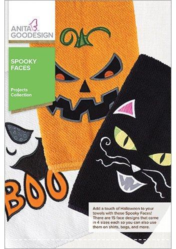 Anita Goodesign Embroidery Designs Spooky Faces ()