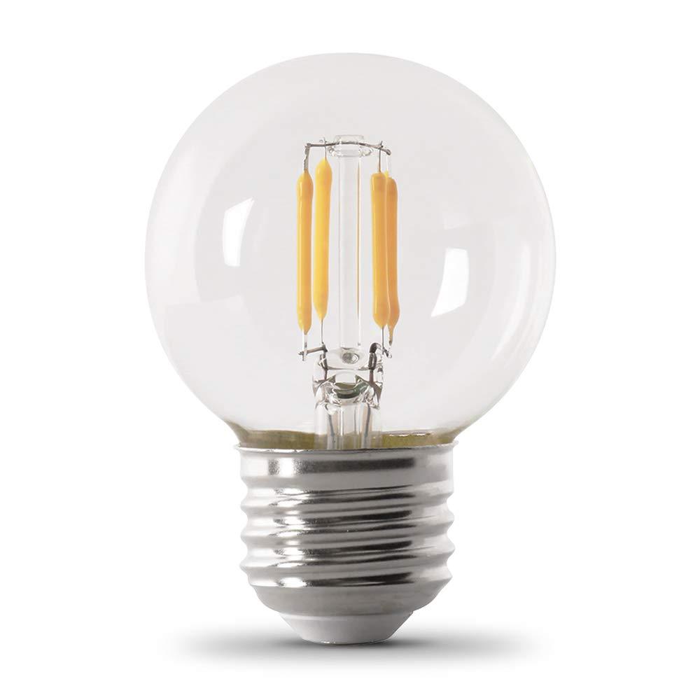 2-Pack Feit Electric Company Feit BPQ40CFC//2 40-watt ES Halogen Clear Flame Tip Chandelier Candelabra Base  60-watt Equivalent