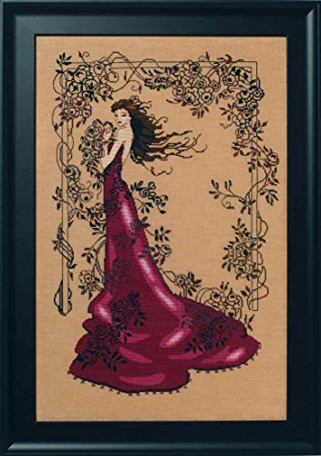 Lady of Mystery LINEN Beaded Counted Cross Stitch Kit by Nor
