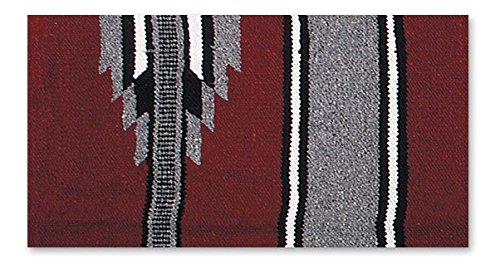 Saddle Blanket, Burgundy/Gray/Black, 30 x 60-Inch ()