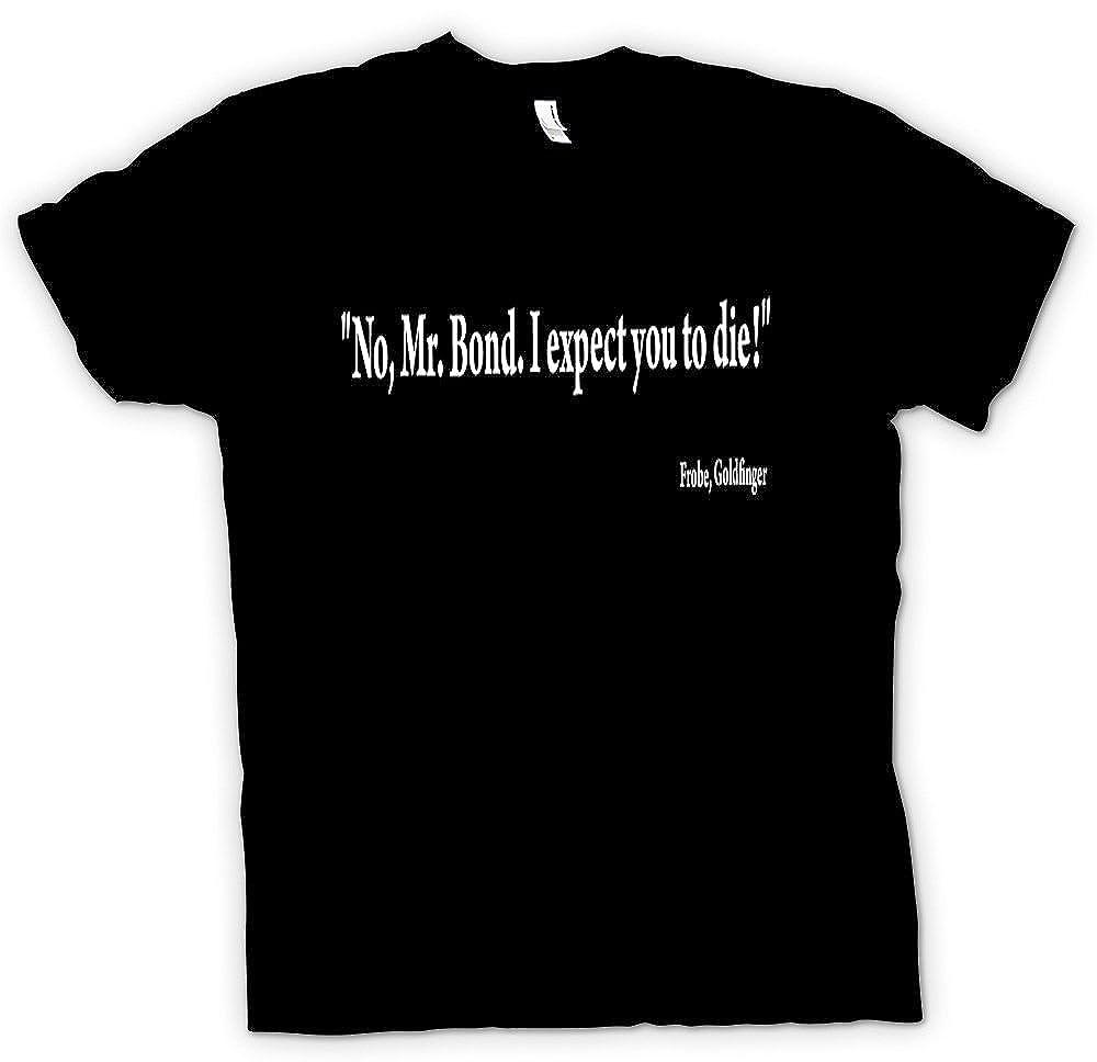 Herren T Shirt James Bond 007 Goldfinger Zitat Gert