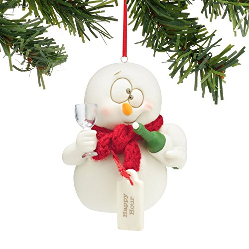 Department 56 Snowpinions Happy Hour Hanging Ornament Department 56 Snowman