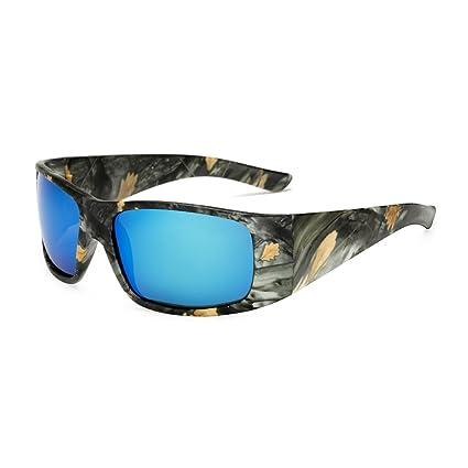 TL-Sunglasses Gafas de Sol Polaroid Gafas de Sol polarizadas por el Hombre Camuflaje Deporte
