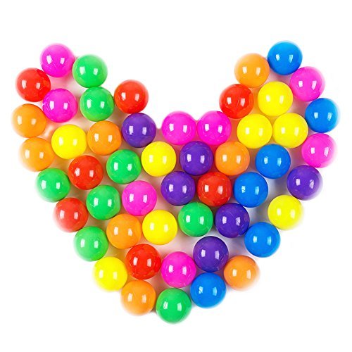 Dadoudou Pit Balls, Colorful Fun Phthalate Free BPA Free Crush Proof Balls Soft Plastic Air-Filled Ocean Ball Playballs for Baby Kids Tent Swim Toys Ball Pack of - Balls 100 Fun Soft