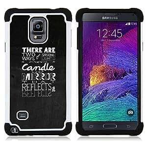 """Pulsar ( Citar Texto motivación Gray"""" ) Samsung Galaxy Note 4 IV / SM-N910 SM-N910 híbrida Heavy Duty Impact pesado deber de protección a los choques caso Carcasa de parachoques [Ne"""