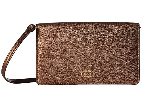 COACH Women's Fold-Over Crossbody Clutch in Metallic for sale  Delivered anywhere in USA