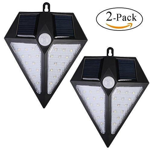 Wall Mount Outdoor Solar Light Fixture - 8