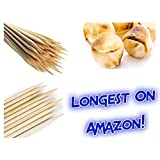 Bamboo Marshmallow Roasting Sticks 37 Inch 5mm Extra Long Heavy Duty Wooden Skewers, 110 Pieces. Perfect for S'mores, Hot Dog, Kebab Sausage, Eco and Biodegradable - Environmentally Safe 100%