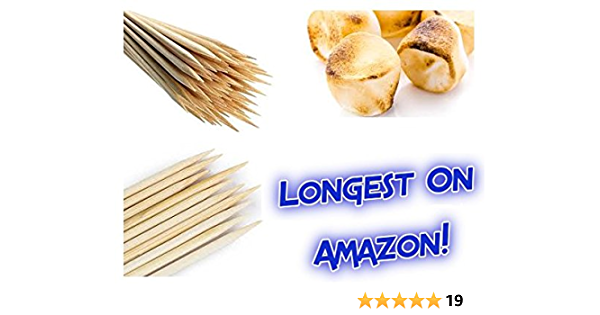 Set of 10 Camping Skewers Extra Long 45/'/' Stainless Telescoping Hot Dog Smores Skewers Kids Safe Barbecue Forks for Campfire Rwm Marshmallow Roasting Sticks Bonfire and Grill