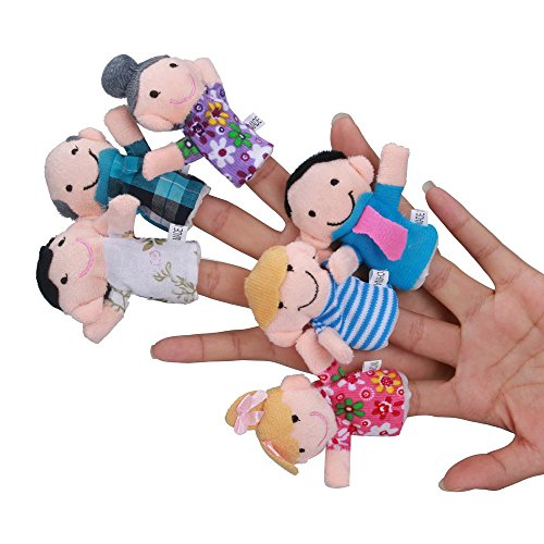 (Iusun Kitchen Play Toy Set 6 Pcs Finger Even Storytelling Good Toys Hand Puppet Education Learning Developmental Tools for Children's Kids Gift - Ship from USA (Multicolor) )