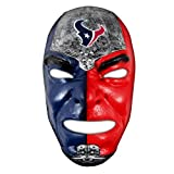 Franklin Sports Houston Texans NFL Fan Face Mask – Team Fan Masks for NFL Football Games and Tailgates – Sports Fan Face Mask – Face Paint Masks