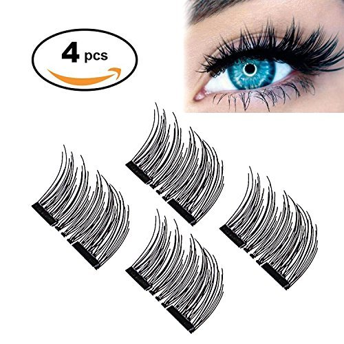 YAYING Magnetic Eyelashes Reusable False Magnetic Eyelashes for Natural Look (1 Pair 4 Pieces), No Glue Required Fake Mink Lashes -