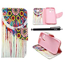 Moto G Case (1st Gen), iYCK Premium PU Leather Flip Folio Carrying Magnetic Closure Protective Shell Wallet Case Cover for Moto G (1st Gen) with Kickstand Stand - Dream Catcher
