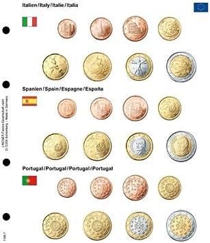 Lindner 1108-7 - Hoja pre-Impresa para Juegos Euro del Curso Legal: Italia/ España/Portugal, Hoja pre-Impreso Incl. Hoja Monedas Karat K8: Amazon.es: Juguetes y juegos