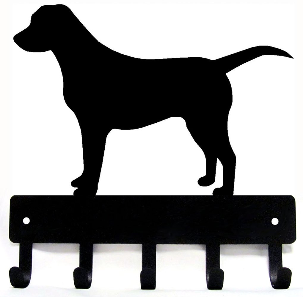 Labrador Retriever Key Rack & Dog Leash Hanger - Small 6 inch The Metal Peddler KR-Lab-SM