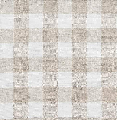 Solino Home 100% Pure Linen Checks Table Runner - Natural & White Check Table Runner - 14 x 72 Inch Runner for Dinner, Indoor and Outdoor Use by Solino Home (Image #2)