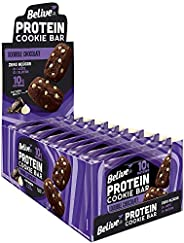 Cookie Bar Protein Double Chocolate Sem Açúcar Sem Glúten Sem Lactose Belive 40g Display com 10 unidades