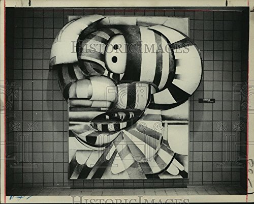 1972 Press Photo Artwork by Lee Bontecou on South Mall in Albany, New - Malls Albany In
