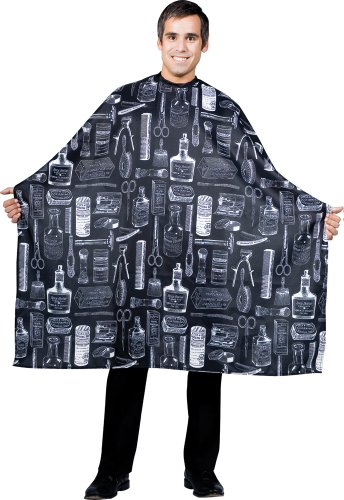 Betty Dain Vintage Print Barber Cutting Cape, Black