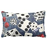 Zazzle Gaming Dice Throw Pillow 13'' x 21''