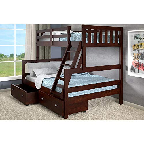 Donco Kids 1566-TFCP Austin Bunk Bed Twin/Full Dark Cappuccino ()