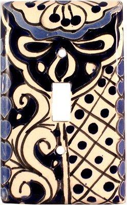Ceramic Talavera Switch (Single Toggle Traditional Talavera Ceramic Switch Plate)