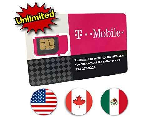 ( T-Mobile Prepaid SIM Card Unlimited Talk, Text, and Data in USA with 5GB Data in Canada and Mexico for 7 days)